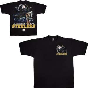 Liquid Blue Pittsburgh Steelers Sky Helmet T Shirt Small