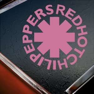 RED HOT CHILI PEPPERS Pink Decal Truck Window Pink Sticker