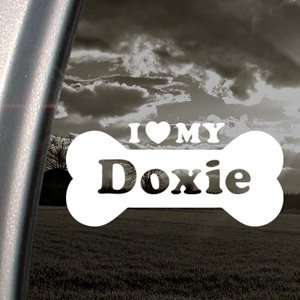 I Love My Doxie Decal Car Truck Bumper Window Sticker