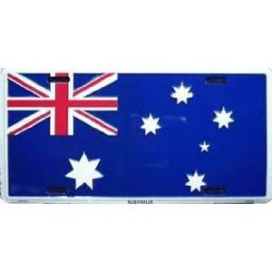 Australia Country Flag Embossed Metal License Plate Auto