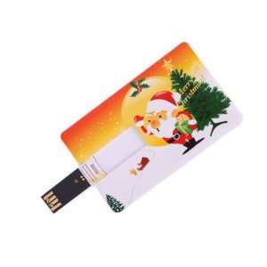 1GB Santa & Christmas Tree Credit Card Style USB Flash