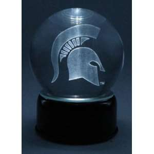 MICHIGAN STATE LOGO ETCHED IN CRYSTAL