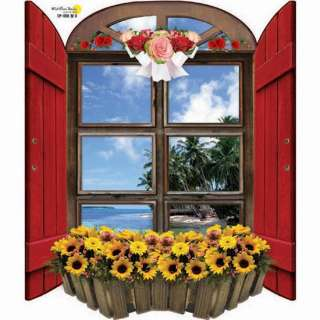 Flowers Window Adhesive Removable Wall Decor Accents Stickers & Decals