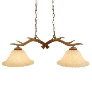 Hampton Bay Antler Collection 2 Light 59 1/4 in. Hanging Natural