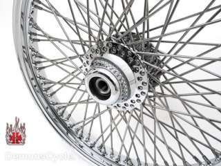 CHROME BILLET WIDEGLIDE FRONT END CONVERSION KIT 80 SPOKES WHEEL RIM