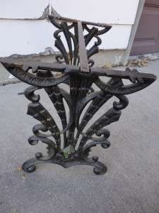 Antique Victorian Twisted Wrought Iron Hall or Radio Bench