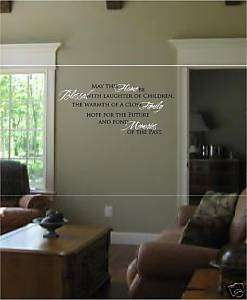 Wall Words Letters May this home be blessed vinyl art