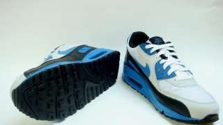 Nike Air Max 90 White Varsity Blue Neutral Grey 325018 144 Sale 90,95