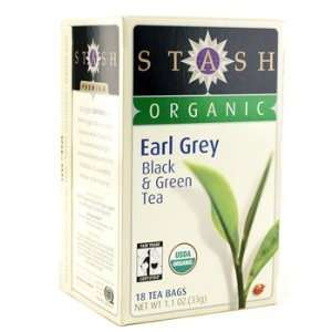 Organic Earl Grey Black and Green Tea Bags (18) Stash Tea