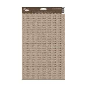 Kraft Mini Alpha Stickers 924/Pkg   Brown Arts, Crafts