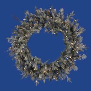 Fir Artificial Christmas Wreath   Clear Dura Lights