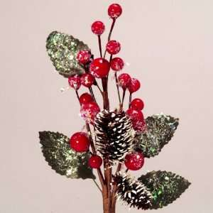 Club Pack of 72 Artificial Berry Cone Christmas Picks with