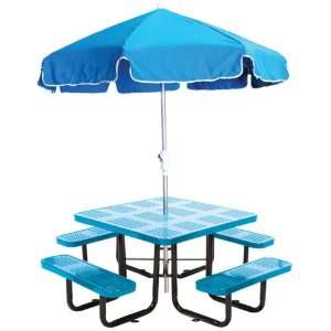 Leisure Craft Commercial Square Perforated Metal Picnic Table