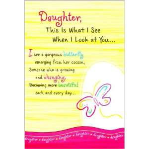 Blue Mountain Arts Daughter Birthday Greeting Card This Is What I See