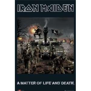 Iron Maiden Life and Death Heavy Metal Rock Music Poster