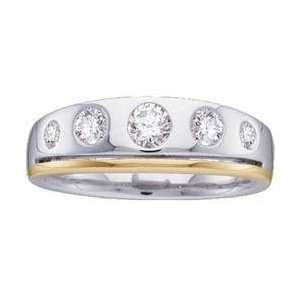 14k Two Tone Gold Diamond Bridal Duo Ring