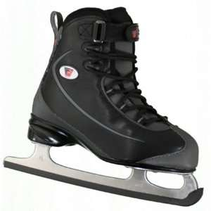 625 Womens BLACK Soft Boot Ice Skates   GR4 Blade