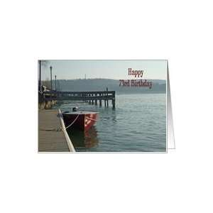 Fishing Boat 73rd Birthday Card Card  Toys & Games