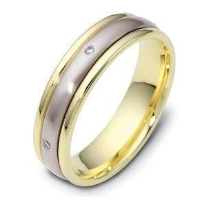 5mm Titanium & 18 Karat Yellow Gold SPINNING Diamond Wedding Band Ring