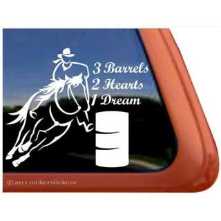 Barrel Racing Horse Trailer Vinyl Window Decal Sticker Automotive