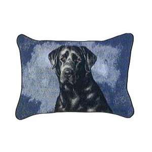 Black Lab Labrador Retriever Dogs Tapestry Couch Pillow