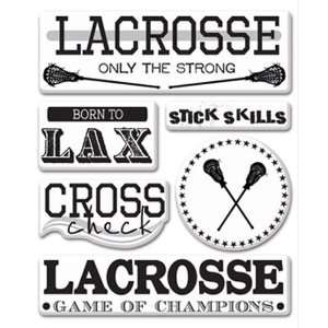 Lacrosse Collection   Epoxy Stickers   Lacrosse Arts, Crafts & Sewing