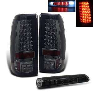 03 06 Silverado Sierra Smoked LED Tail Lights + LED Brake Automotive
