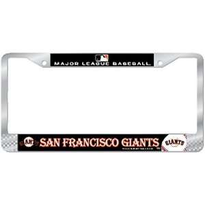 San Francisco Giants MLB Chrome License Plate Frame