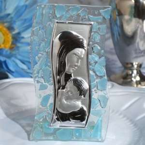 Murano Art S Shaped Blue Pebble Glass Icon