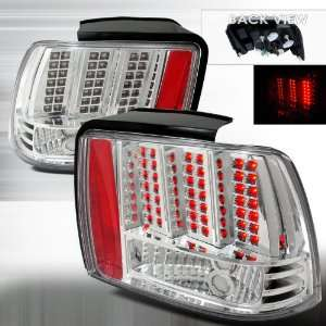 1999 2004 Ford Mustang LED Tail Lights Chrome Automotive