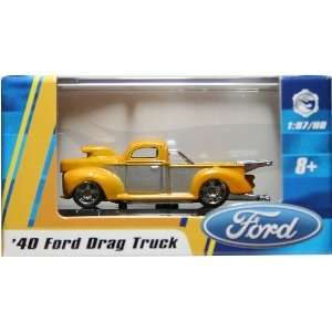 187 / HO SCALE 40 FORD DRAG TRUCK (YELLOW) Hot Wheels Vehicle