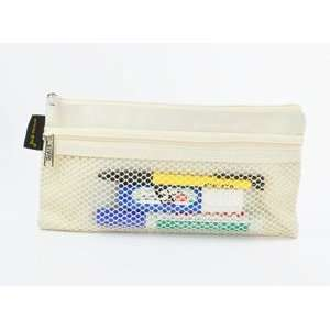 Office Medium Double compartment Mesh Zipper Document bag/ Organizer