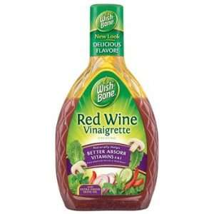 Wish Bone Red Wine Vinaigrette Salad Dressing 16 oz (Pack of 6