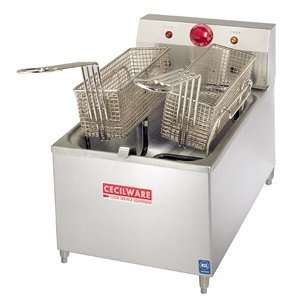Cecilware EL 170 Stainless Steel Countertop Electric Fryer