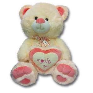 Plush in a Rush Peach 16 Valentine Teddy Bears