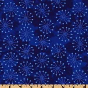 44 Wide Tiffany Pinwheel Dots Blue Fabric By The Yard