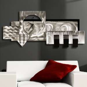 Wall Clock, Contemporary Metal Art Abstract Modern Wall Decor Home