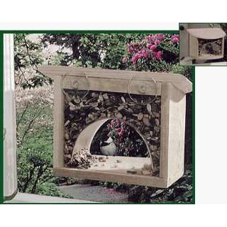 Window Bird Feeder, Classic Wood