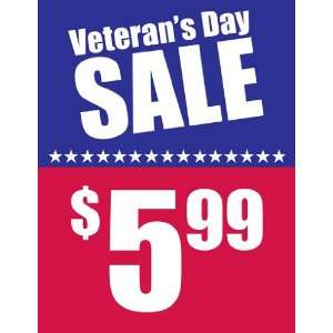 Veterans Day Sale Red White Blue Sign