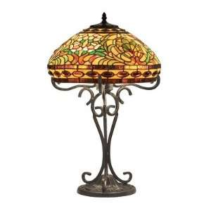 Delora Dark Bronze Tiffany Table Lamp