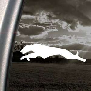Greyhound Run Hunt Dog Decal Truck Window Sticker