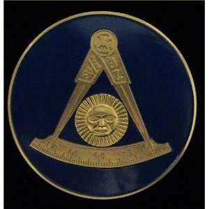 AM Past Master Masonic Car Bumper Sticker Medallion