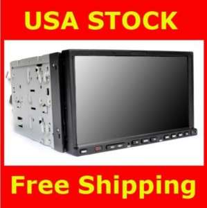 Double Din 7 Car DVD Player In Dash Radio TV RDS SD BT