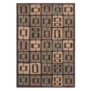 Angela Adams Munjoy Dark Brown 08710 Contemporary 52 x 79 Area Rug