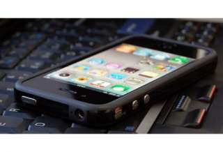 NEW Black TPU Rubber Plastic Bumper Case Cover with Metal Buttons
