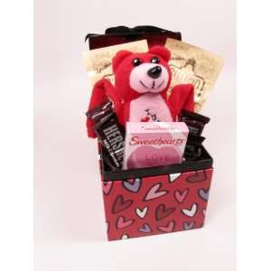 Valentines Day Boxed Gift (Includes Candy, Bear & Hot Cocoa)