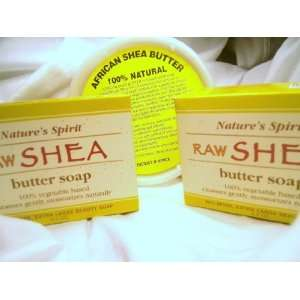 Spirit Raw Shea Butter Soap & 100% Shea Butter Cream