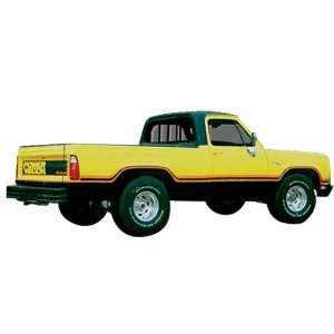 1978 Macho Power Wagon Dodge Truck Decal and Stripe Kit Automotive