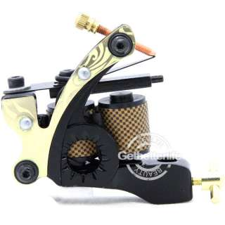 Pro 10 Wraps Coil Alloy Tattoo Machine Gun Supplies For Shader
