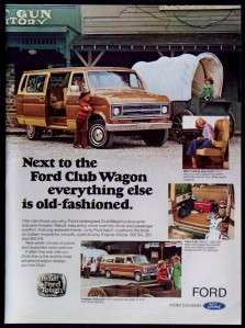 1977 Ford Club Wagon Built Ford Tough Magazine Ad